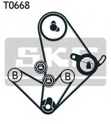 Комплект ремня ГРМ SKF VKMA 95014 - изображение 1