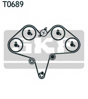 Комплект ремня ГРМ SKF VKMA 95039 - изображение