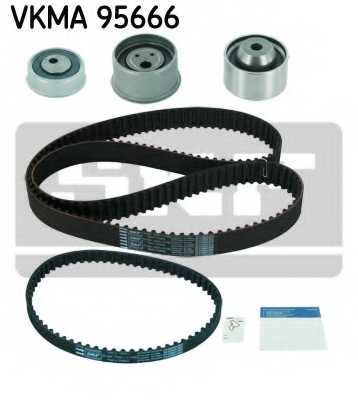 Комплект ремня ГРМ SKF VKMA 95666 - изображение
