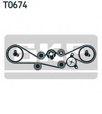 Комплект ремня ГРМ SKF VKMA 98000 - изображение