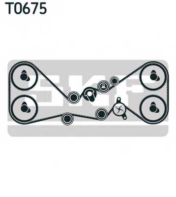 Комплект ремня ГРМ SKF VKMA 98115 - изображение 1
