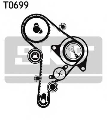 Водяной насос + комплект зубчатого ремня SKF VKMC 01251 - изображение