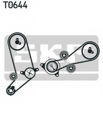 Водяной насос + комплект зубчатого ремня SKF VKMC 01270 - изображение 1