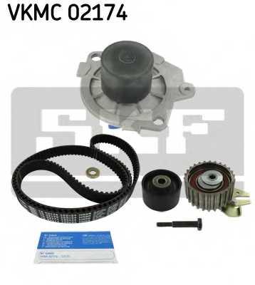 Водяной насос + комплект зубчатого ремня SKF VKMC02174 - изображение