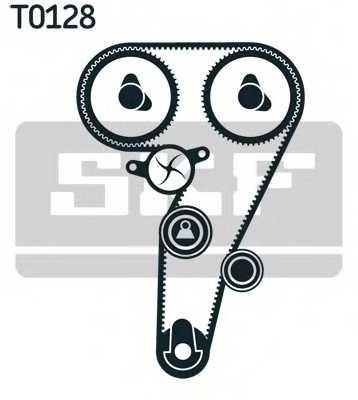 Водяной насос + комплект зубчатого ремня SKF VKMC 02177 - изображение