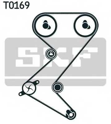 Водяной насос + комплект зубчатого ремня SKF VKMC 03235 - изображение