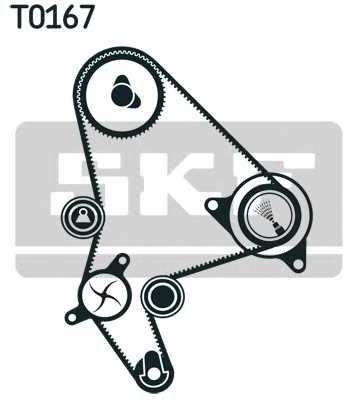 Водяной насос + комплект зубчатого ремня SKF VKMC 03246 - изображение