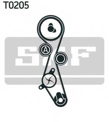 Водяной насос + комплект зубчатого ремня SKF VKMC03305 - изображение