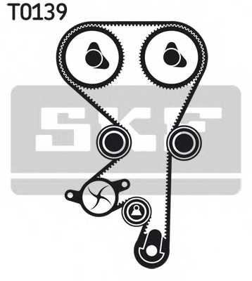 Водяной насос + комплект зубчатого ремня SKF VKMC 05228 - изображение