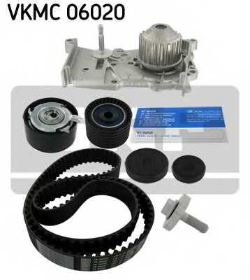 Водяной насос + комплект зубчатого ремня SKF VKMC06020 - изображение 1