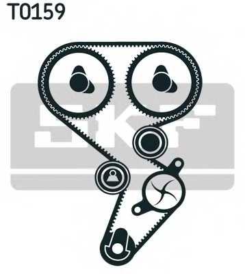 Водяной насос + комплект зубчатого ремня SKF VKMC 06021 - изображение