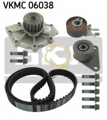Водяной насос + комплект зубчатого ремня SKF VKMC 06038 - изображение