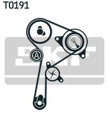 Водяной насос + комплект зубчатого ремня SKF VKMC 06134-3 - изображение