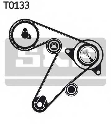 Водяной насос + комплект зубчатого ремня SKF VKMC 06501 - изображение