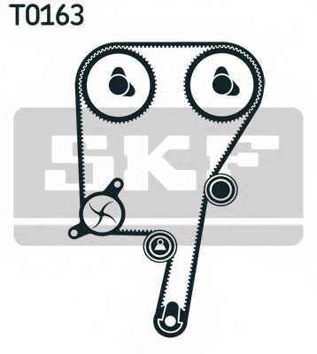 Водяной насос + комплект зубчатого ремня SKF VKMC 06604 - изображение