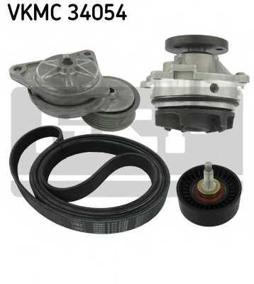 Водяной насос + комплект ручейковых ремней SKF VKMC 34054 - изображение