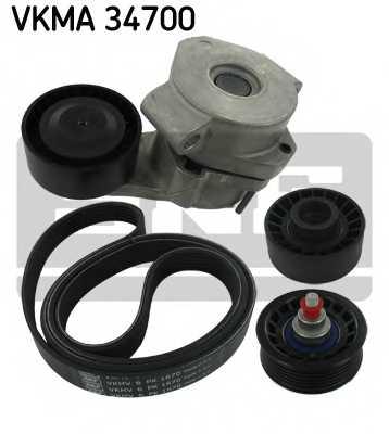 Водяной насос + комплект ручейковых ремней SKF VKMC34700 - изображение