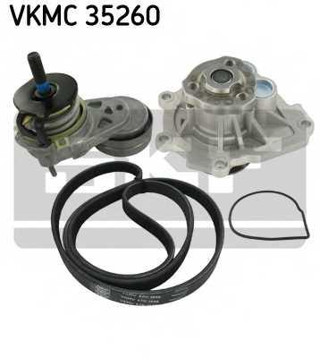 Водяной насос + комплект ручейковых ремней SKF VKMC 35260 - изображение