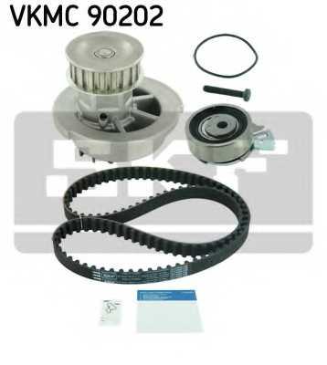 Водяной насос + комплект зубчатого ремня SKF VKMC 90202 - изображение 1