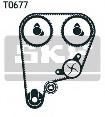 Водяной насос + комплект зубчатого ремня SKF VKMC93210 - изображение
