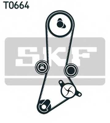 Водяной насос + комплект зубчатого ремня SKF VKMC 95660-2 - изображение