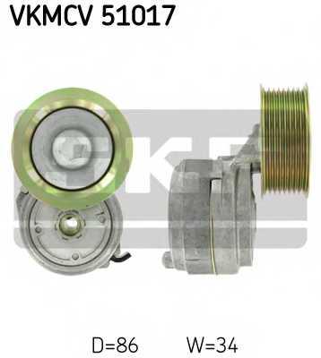 Натяжной ролик поликлиновогоременя SKF VKMCV 51017 - изображение