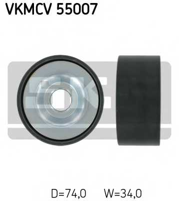 Натяжной ролик поликлиновогоременя SKF VKMCV 55007 - изображение