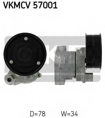 Натяжной ролик поликлиновогоременя SKF VKMCV 57001 - изображение