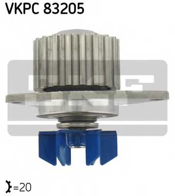 Водяной насос SKF VKPC 83205 - изображение