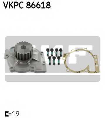Водяной насос SKF VKPC 86618 - изображение