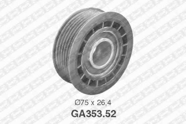 Паразитный / ведущий ролик поликлинового ременя SNR GA353.52 - изображение