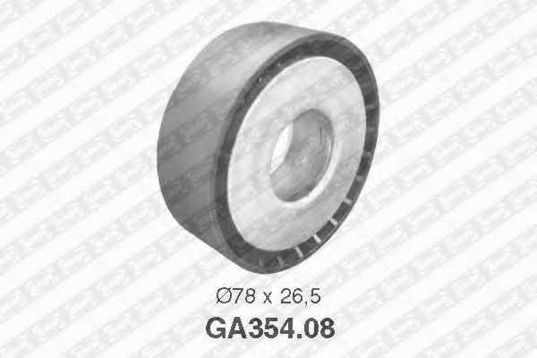 Натяжной ролик поликлиновогоременя SNR GA354.08 - изображение