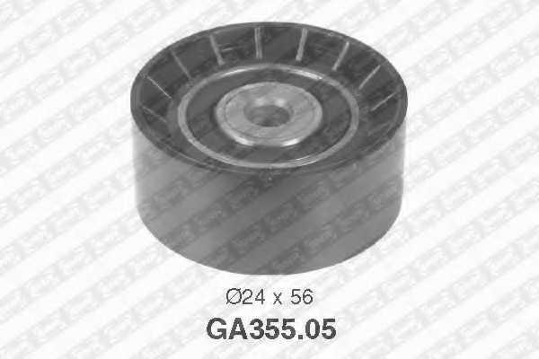 Паразитный / ведущий ролик поликлинового ременя SNR GA355.05 - изображение