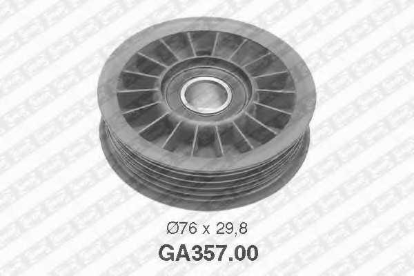 Натяжной ролик поликлиновогоременя SNR GA357.00 - изображение