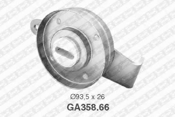 Натяжной ролик поликлиновогоременя SNR GA358.66 - изображение