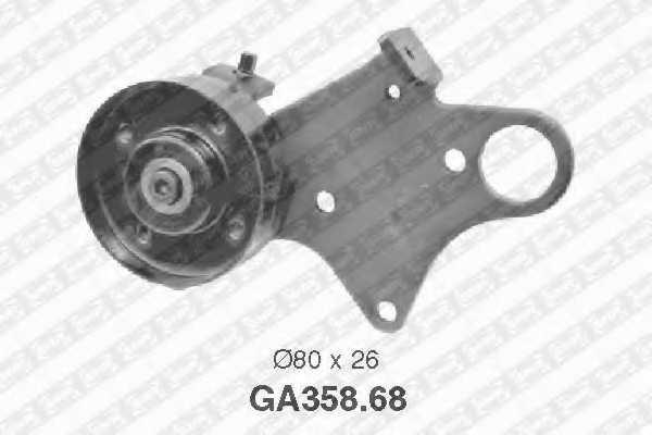 Натяжной ролик поликлиновогоременя SNR GA358.68 - изображение