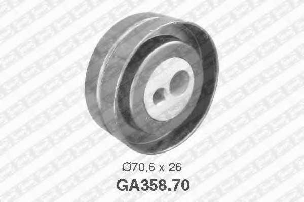 Натяжной ролик поликлиновогоременя SNR GA358.70 - изображение