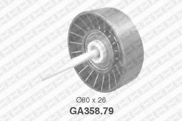 Паразитный / ведущий ролик поликлинового ременя SNR GA358.79 - изображение