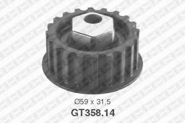 Натяжной ролик ременя ГРМ SNR GT358.14 - изображение