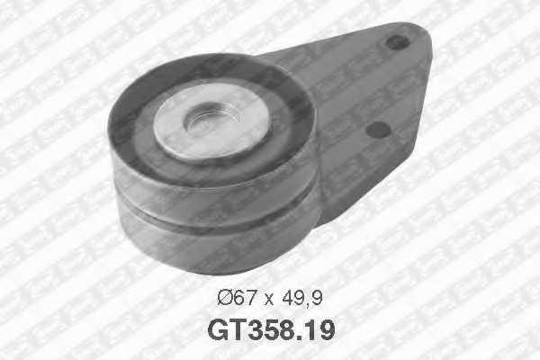 Натяжной ролик ременя ГРМ SNR GT358.19 - изображение