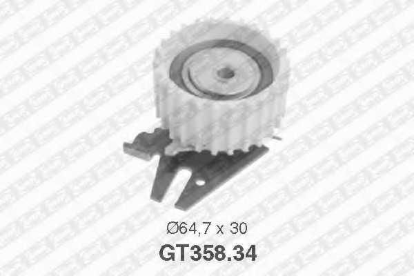 Натяжной ролик ременя ГРМ SNR GT358.34 - изображение