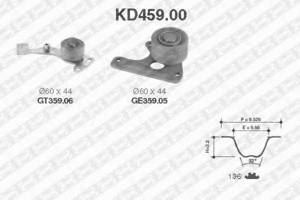 Комплект ремня ГРМ SNR KD459.00 - изображение