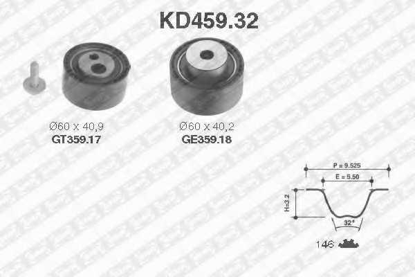 Комплект ремня ГРМ SNR KD459.32 - изображение