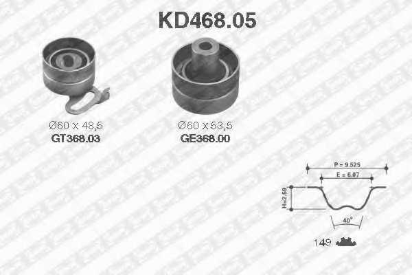 Комплект ремня ГРМ SNR KD468.05 - изображение
