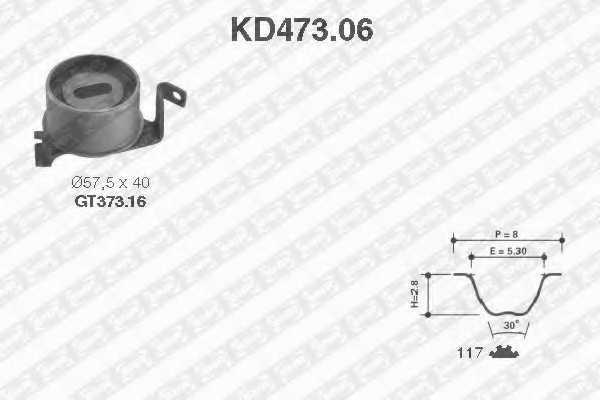 Комплект ремня ГРМ SNR KD473.06 - изображение