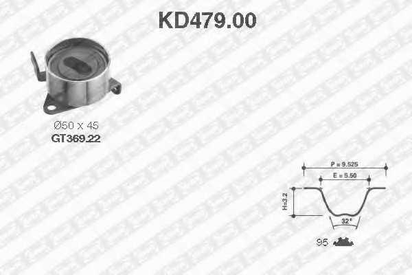 Комплект ремня ГРМ SNR KD479.00 - изображение