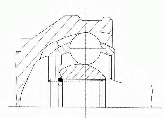 Шарнирный комплект приводного вала SPIDAN 22763 - изображение 1