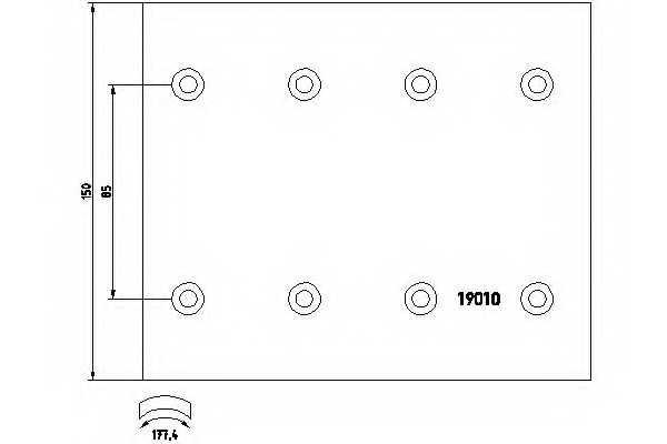 Комплект тормозных башмаков барабанного тормоза TEXTAR 1901003 - изображение