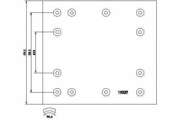 Комплект тормозных башмаков барабанного тормоза <b>TEXTAR 1903616</b> - изображение 1