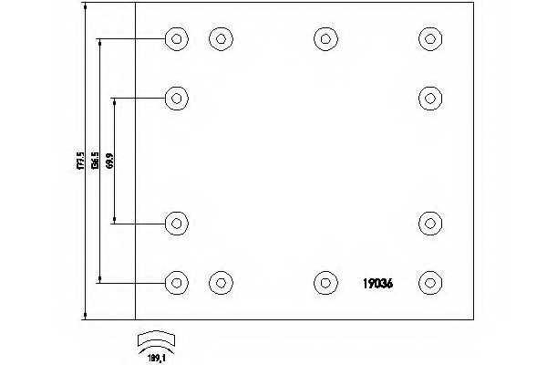 Комплект тормозных башмаков барабанного тормоза <b>TEXTAR 1903616</b> - изображение